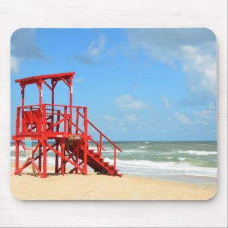 empty lifeguard stand mouse pad
