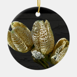 Empty Lily Seed Pods Coordinating Items Ceramic Ornament