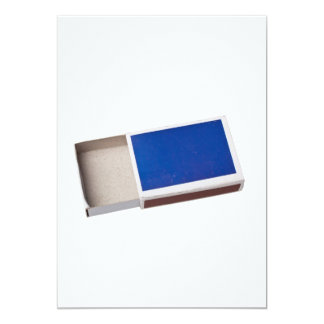 Empty matchbox card