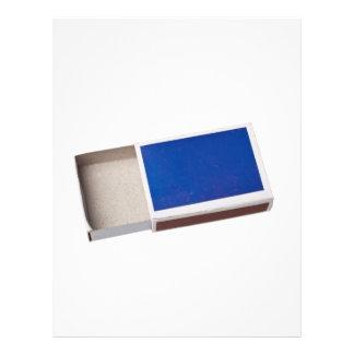 Empty matchbox flyer