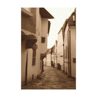 Empty Medieval Street Canvas Print