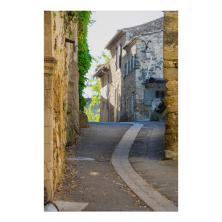 Empty Narrow Street, France Poster