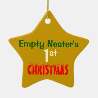 Empty Nest 1st Christmas Gold Star 2 Ornaments