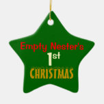 Empty Nest 1st Christmas Green Star Christmas Tree Ornaments