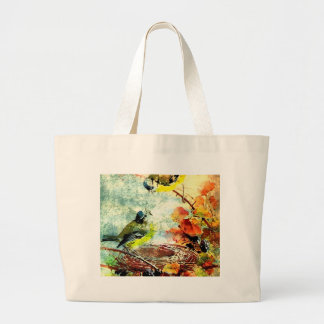 EMPTY NEST CHATTER LARGE TOTE BAG