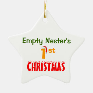 Empty Nester's 1st Christmas Double-Sided Star Ceramic Christmas Ornament