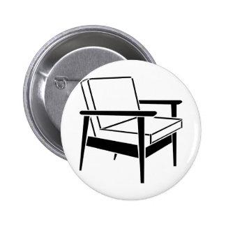 Empty Office Chair 2 Inch Round Button