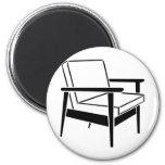 Empty Office Chair 2 Inch Round Magnet