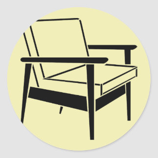Empty Office Chair Classic Round Sticker