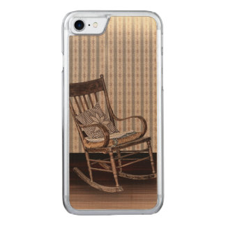 Empty Old Vintage Rocking Chair Carved iPhone 8/7 Case