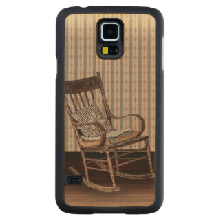 Empty Old Vintage Rocking Chair Carved Maple Galaxy S5 Slim Case