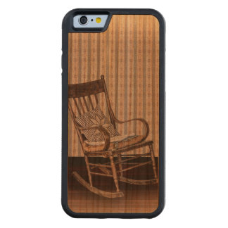 Empty Old Vintage Rocking Chair Carved® Cherry iPhone 6 Bumper