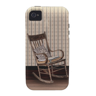 Empty Old Vintage  Rocking Chair Vibe iPhone 4 Cases