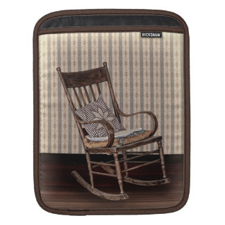 Empty Old Vintage Rocking Chair Sleeves For iPads