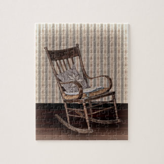 Empty Old Vintage  Rocking Chair Jigsaw Puzzle