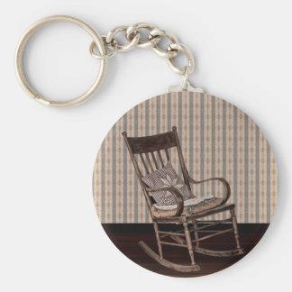 Empty Old Vintage  Rocking Chair Keychain
