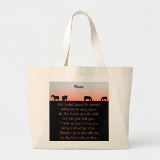Empty Pasture Large Tote Bag