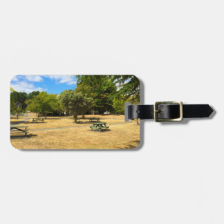Empty Picnic Tables Luggage Tags