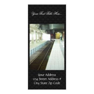 Empty Platform At Perth Railway Station Custom Rack Card
