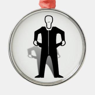 Empty Pockets Metal Ornament