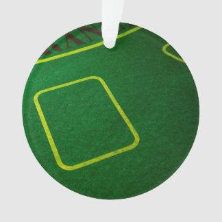 Empty Poker Table Closeup Ornament