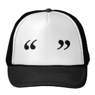 Empty Quotes Trucker Hat