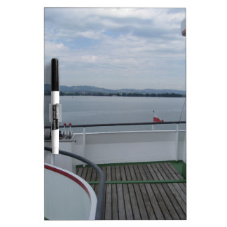 Empty rear deck of a cruise boat on Lake Thun Dry-Erase Boards