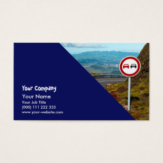 Empty road with turn business card