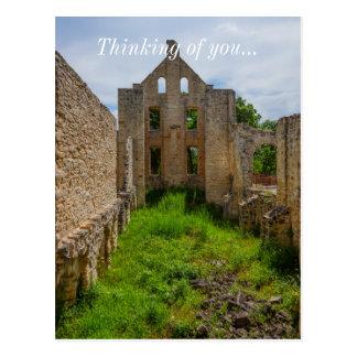Empty Room Ruins Postcard