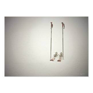 Empty Skis and Poles Card