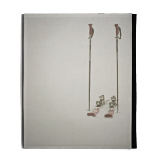 Empty Skis and Poles iPad Folio Cases