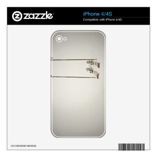 Empty Skis and Poles Decal For The iPhone 4
