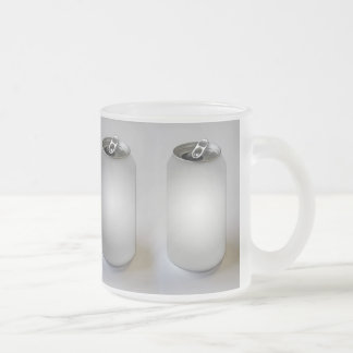Empty Soda Cans Frosted Glass Coffee Mug
