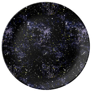 EMPTY SPACE (outer space) ~ Porcelain Plates