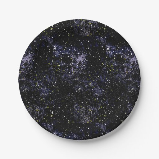 Empty space outer space paper plate zazzle for Outer space paper