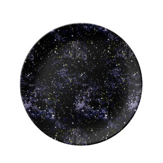 EMPTY SPACE (outerspace design) ~ Porcelain Plates