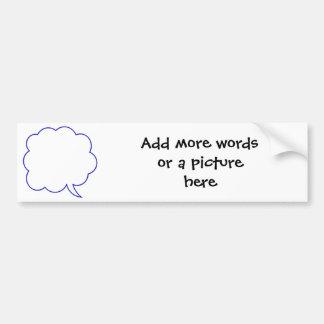 Empty speech bubble #1 bumper sticker