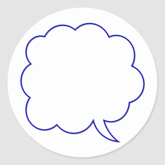 Empty speech bubble #1 classic round sticker
