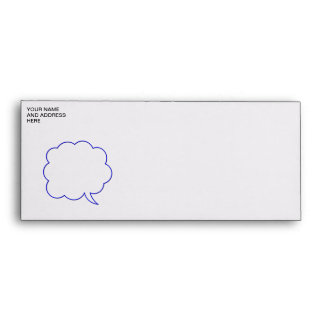 Empty speech bubble #1 envelopes