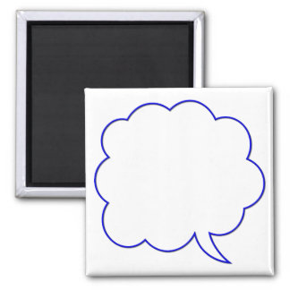 Empty speech bubble #1 magnet