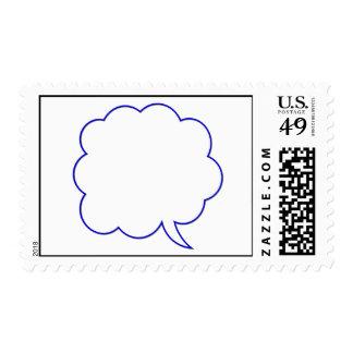 Empty speech bubble #1 stamp