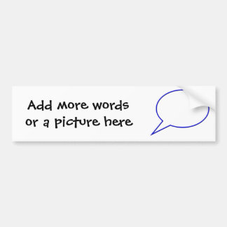 Empty speech bubble #2 bumper sticker