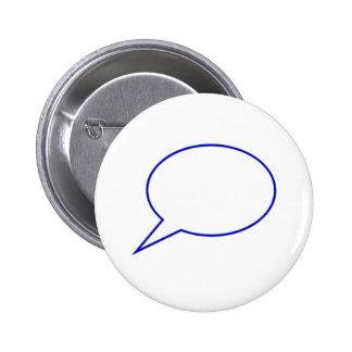 Empty speech bubble #2 pinback button
