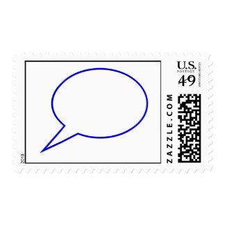 Empty speech bubble #2 postage