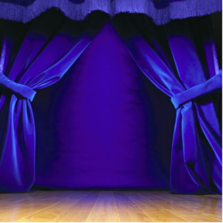 Empty Stage With Curtains Cutout