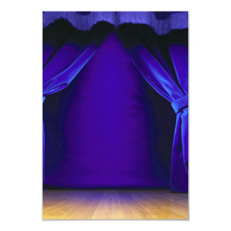 """Empty Stage With Curtains 3.5"""" X 5"""" Invitation Card"""