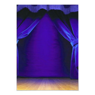 """Empty Stage With Curtains 4.5"""" X 6.25"""" Invitation Card"""