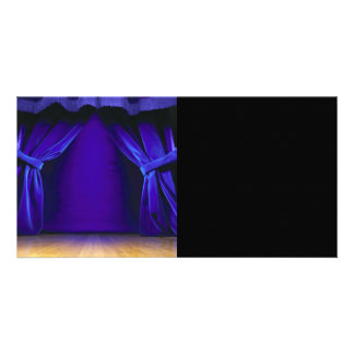 Empty Stage With Curtains Picture Card