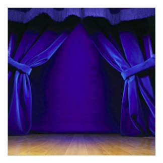 Empty Stage With Curtains Posters