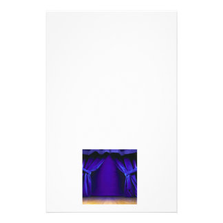 Empty Stage With Curtains Custom Stationery